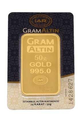 Tuğrul Kuyumculuk 50 Gram Külçe Gram Altın 24 Ayar K00050