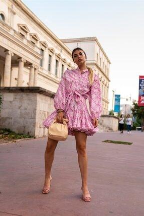 Roberto Nişantaşı Önü Düğmeli Poplin Elbise