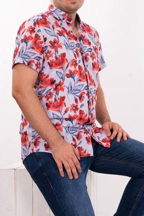 Mondo Gül Temalı Kısa Kollu Gömlek
