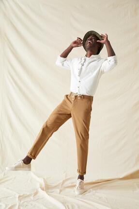 DeFacto Erkek Vizon Regular Fit Bağcıklı Pantolon