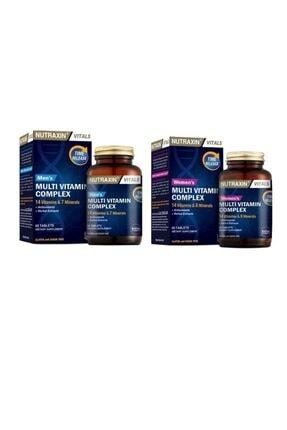 Nutraxin Men's Multi Vitamin Complex 60 Tablet + Kadınlara Özel Multi Vitamin 60 Tablet