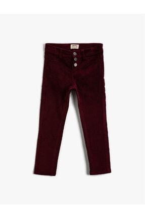 Koton Kız Çocuk Bordo Pantolon