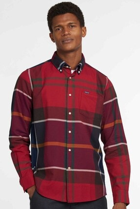 Barbour Dunoon Tailored Gömlek Re52 Red
