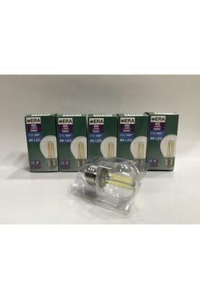 Gece Era 4w Beyaz Işık Rustik Led Ampul - E27 Normal Duy - 6500k - Şeffaf Cam
