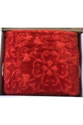 Merinos Embos Elegans Tek Kişilik Battaniye 160x220 Kırmızı