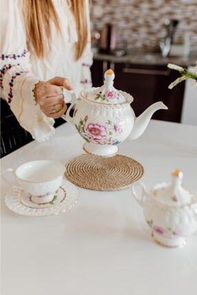 My eticaret Jüt Hasır Halat Nihale Tencere Tava Çaydanlık Altlığı 20 cm