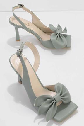 Bambi Su Yeşili Kadın Klasik Topuklu Ayakkabı K05527250009