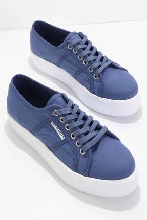 Bambi Mavi Kadın Sneaker K01512478418