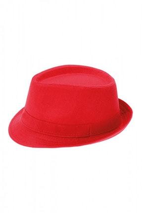 Bay Şapkacı Unisex Basic Fötr Şapka 7277 Kırmızı