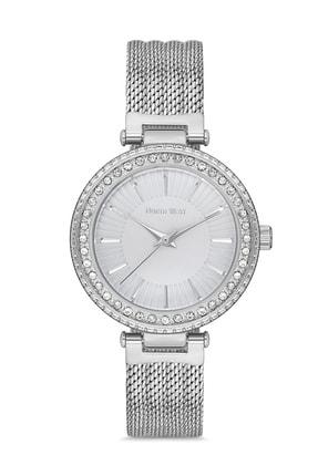 North West Gümüş Hasır Çelik Kordon Taşlı Kadın Kol Saati