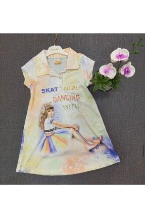 Moonstar Kız Çocuk Saks Elbise