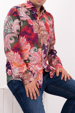 Mondo Çiçek Desenli Uzun Kol Gömlek
