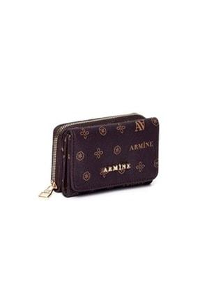 Armine C 11 Kadın Baskılı Küçük Boy El Çanta&cüzdan - Kahve - Tek Ebat