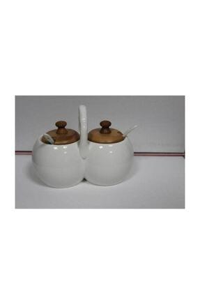 AROW Bambulu Porselen 2'li Baharatlık Tr-691