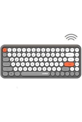 Ajazz Aj308 Bluetooth Daktilo Tarzı Retro Klavye 84 Tuş Kompakt Tasarım