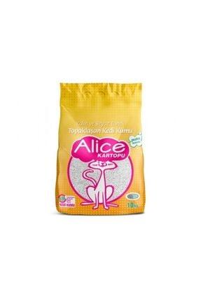 Alice Kartopu Kalın ve Beyaz Taneli Kedi Kumu 10Kg