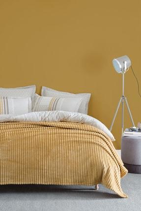 Yataş Bedding Holly Wellsoft Çift Kişilik Battaniye - Hardal
