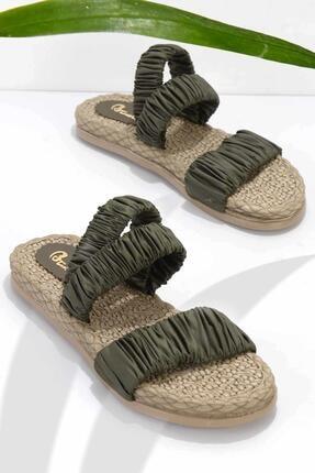Bambi Haki Kadın Sandalet K05682020167