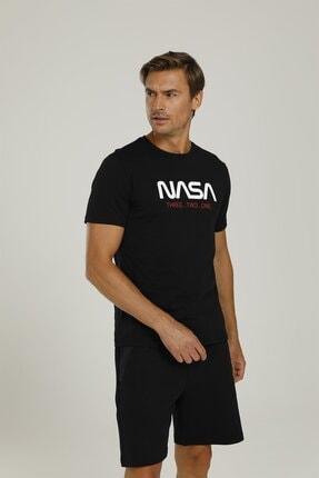 lumberjack Sn702 Nasa Countdown T-sh Siyah Erkek T-shirt