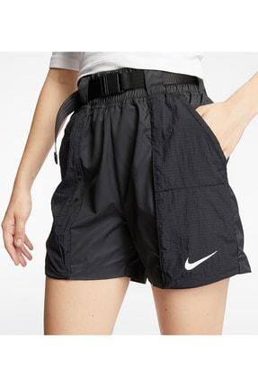 Nike Şort Kadın Siyah Sportswear Swoosh Women's Woven Shorts - Black Dd2095-010