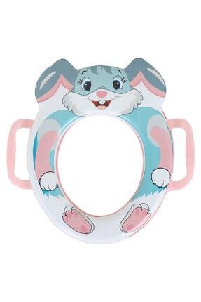 Tuka Home Çocuk Bebek Klozet Adaptörü Kulplu Süngerli Lüx Tavşan Desenli