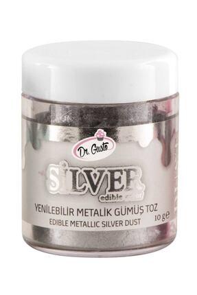 Dr. Gusto Metalik Toz Boya Gümüş 10 gr
