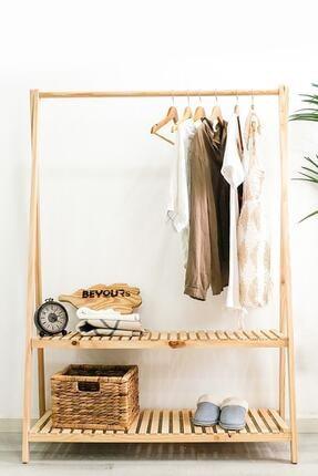 The BEST Shopping Konfeksiyon Elbise Askılık Iki Raflı 148 X 106 cm