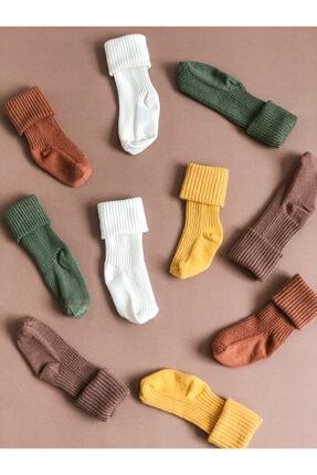 YULAKIDSTORE 5li Pamuklu Dizaltı Çorap