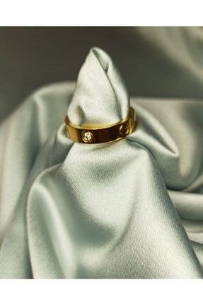 Serra crystal Kadın Gold Cartier Çelik Yüzük Gold