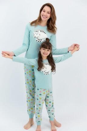 ROLY POLY Kadın Uzun Kol Cat Baskılı Pijama Takımı (anne Kız Kombin Yapılabilir Fiyatları Farklıdır)