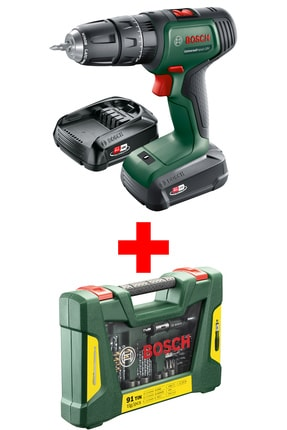 Bosch Universalımpact 18 Akülü Vidalama Makinesi (v-line 91 Parça Delme&vidalama Aksesuar Seti Hediye)