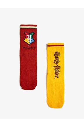 Koton Harry Potter Lisansli Soket Çorap Seti 2'li Kadin