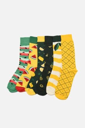 TRENDYOL MAN Çok Renkli Erkek 6'lı Paket Soket Çorap TMNAW22CO0033