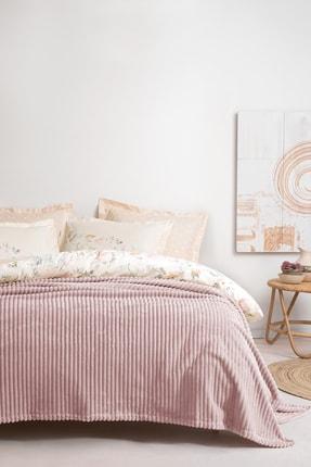 Yataş Bedding Holly Wellsoft Çift Kişilik Battaniye Pudra