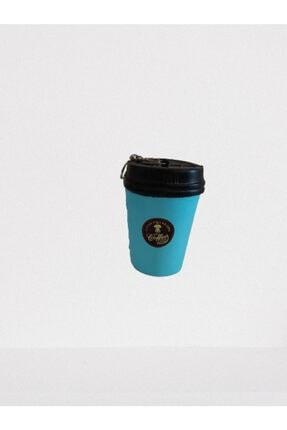 Squishy Mavi Kahve Kupası Yumuşak Anahtarlık Coffee Cup