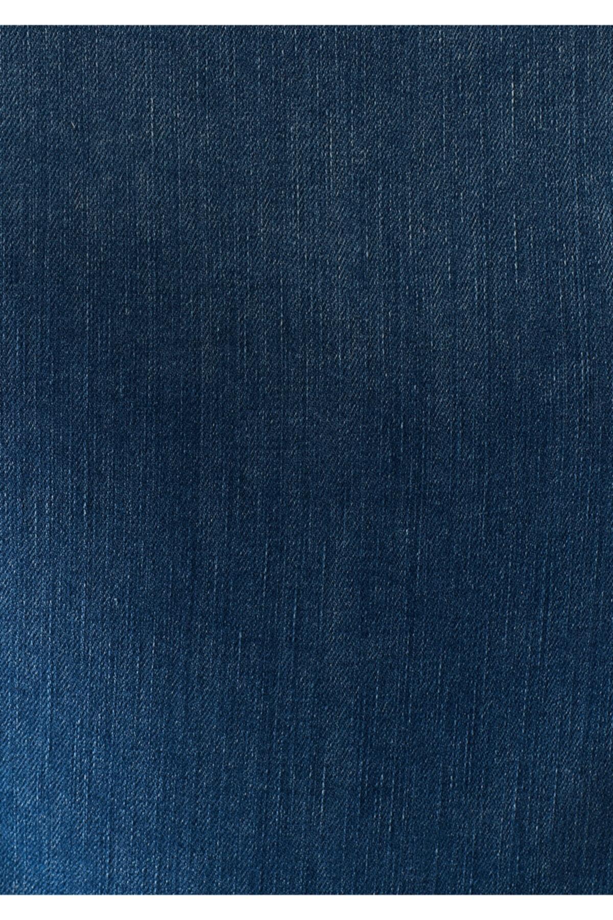 Mavi Daphne 90 S Eskitilmiş Indigo Jean Ceket 1174132062 1
