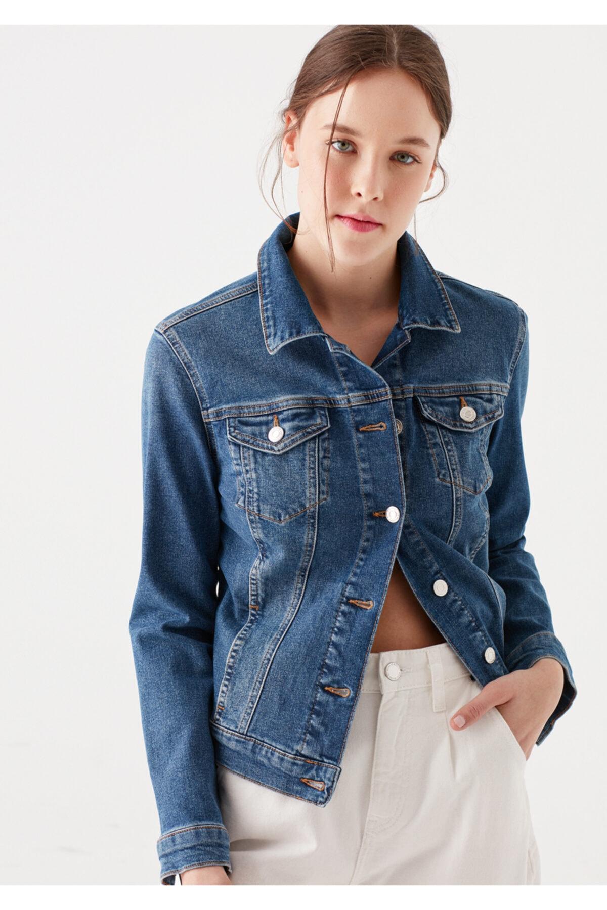 Mavi Daisy 90 S Zımparalı Jean Ceket 1113632061 1