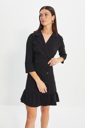 TRENDYOLMİLLA Siyah Ceket Elbise TWOSS20EL0407
