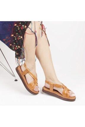 Pierre Cardin Kadın Taba Deri Sandalet Pc-6013