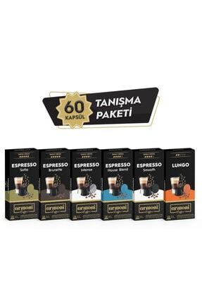Armoni Coffee Nespresso Uyumlu Kapsül Kahve Espresso Karma Set 6 lı 60 Kapsül