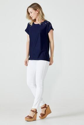 Sementa Nakış Işlemeli Kadın Bluz - Lacivert