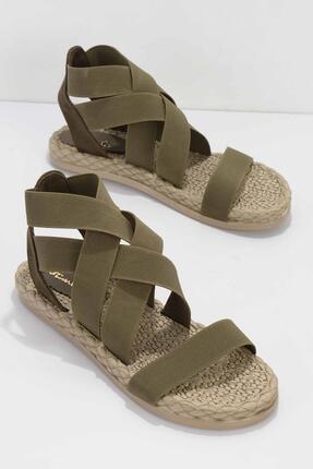 Bambi Haki Kadın Sandalet K05682020215