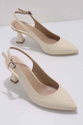 Bambi Bej Kadın Klasik Topuklu Ayakkabı K01840500009