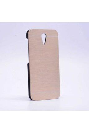 HTC Desire 620 Uyumlu Kılıf Darbeye Dayanıklı Metal Kaplamalı Kapak