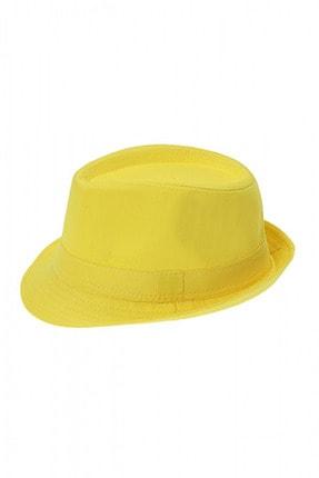 Bay Şapkacı Unisex Basic Fötr Şapka 7277 Sarı