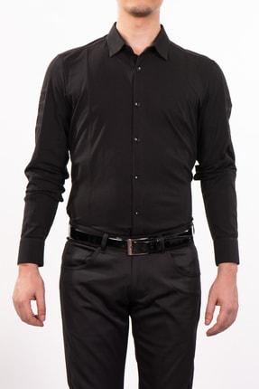 Mondo Düz Renk Siyah Uzun Kollu Gömlek