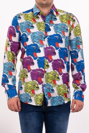 Mondo Aslan Temalı Uzun Kollu Gömlek