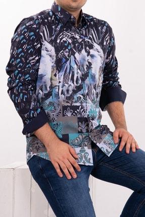 Mondo Geometrik Temalı Uzun Kollu Gömlek