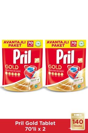 Pril Gold 140 Yıkama Bulaşık Makinesi Deterjanı Tableti (2 x 70'li Paket)