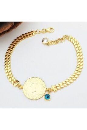 altınplaza 2 Pullu Zincir Kordonlu Çeyrek Altınlı Bileklik